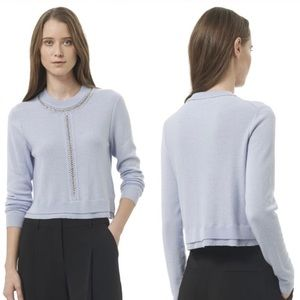 Rebecca Taylor Light Blue Cropped Sweater